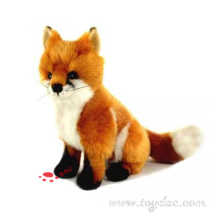 plush faux fur red fox